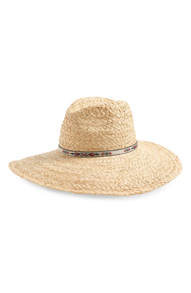 TREASURE & BOND Braided Straw Panama Hat, Main, color, 200