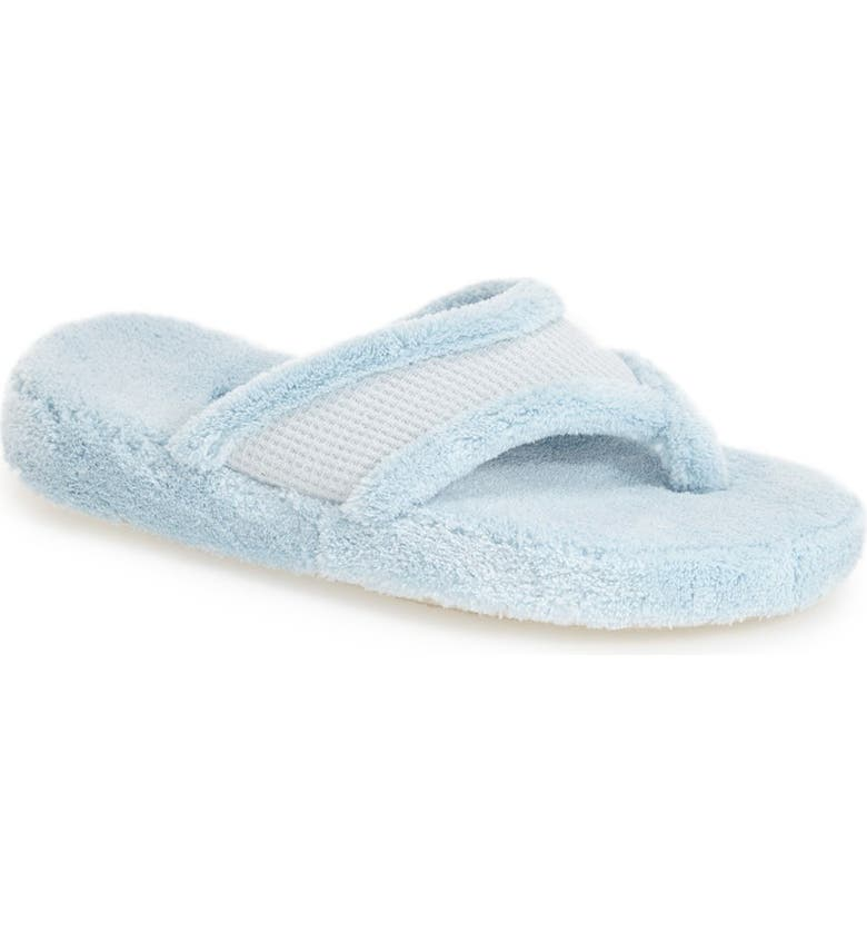 ACORN 'Waffle' Spa Slipper, Main, color, POWDER BLUE