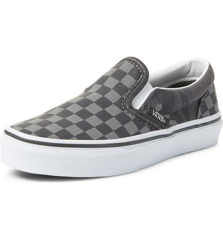 VANS Classic Checker Slip-On, Main, color, OBSIDIAN/ CAMO CHECKER