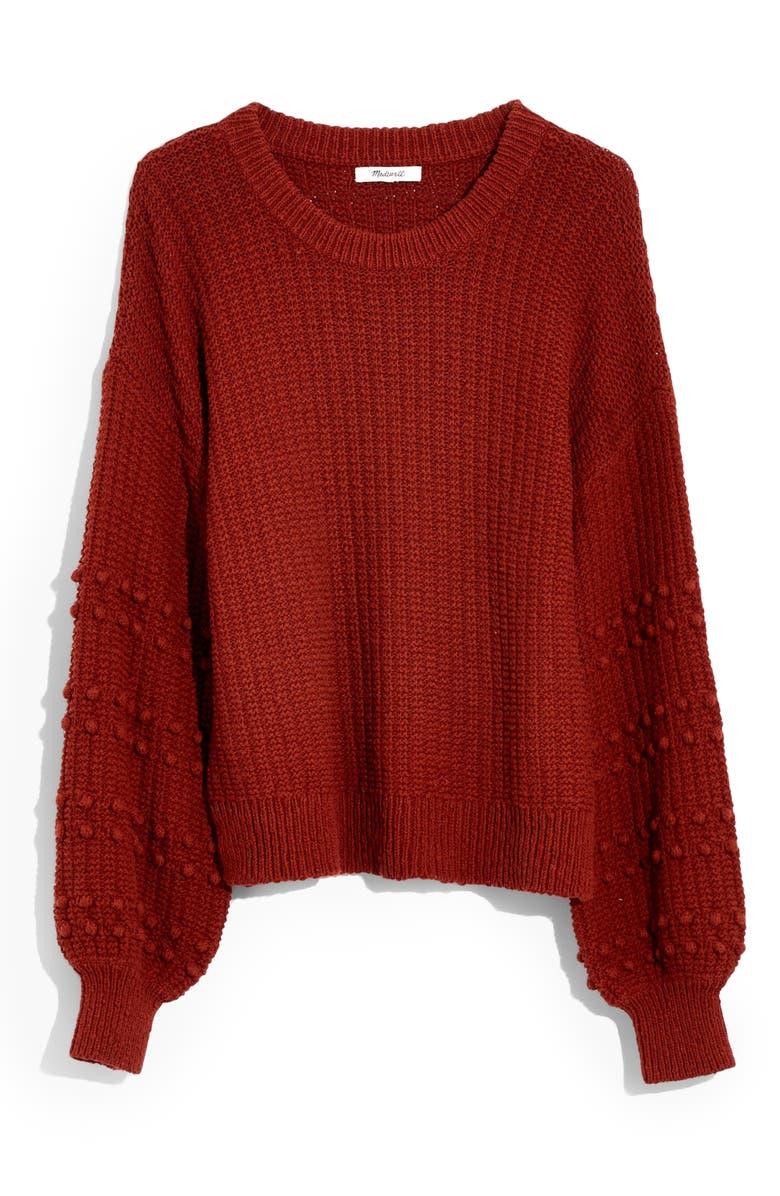 MADEWELL Bobble Sweater, Main, color, BURNISHED MAHOGANY