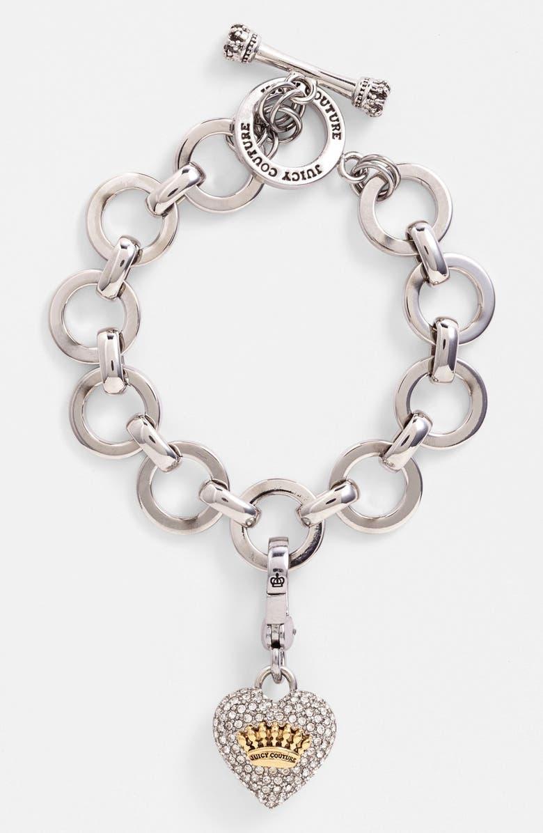 e97b0befa0db2 Pavé Heart Charm Bracelet