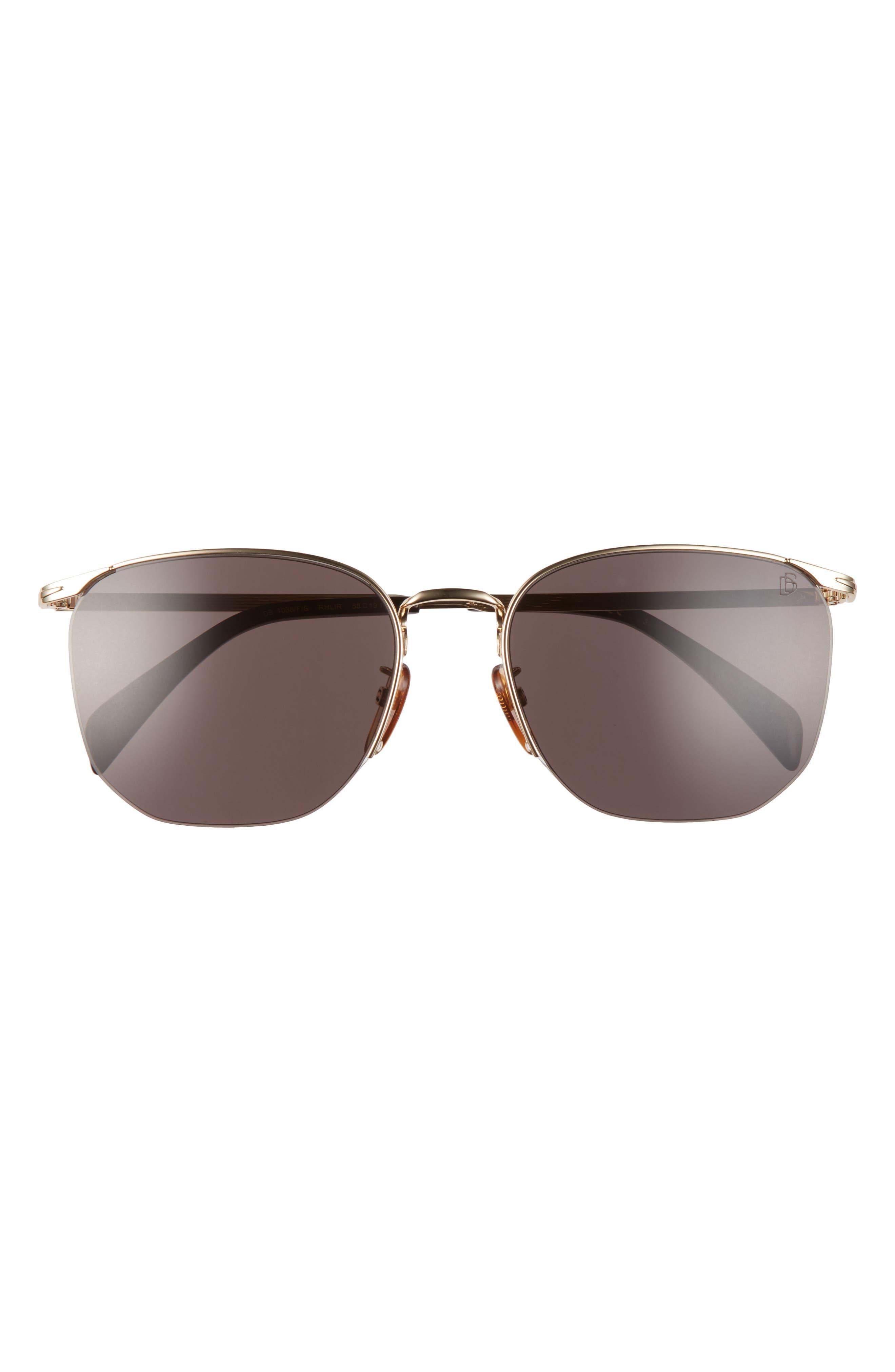Men's Eyewear By David Beckham 58mm Rectangular Sunglasses