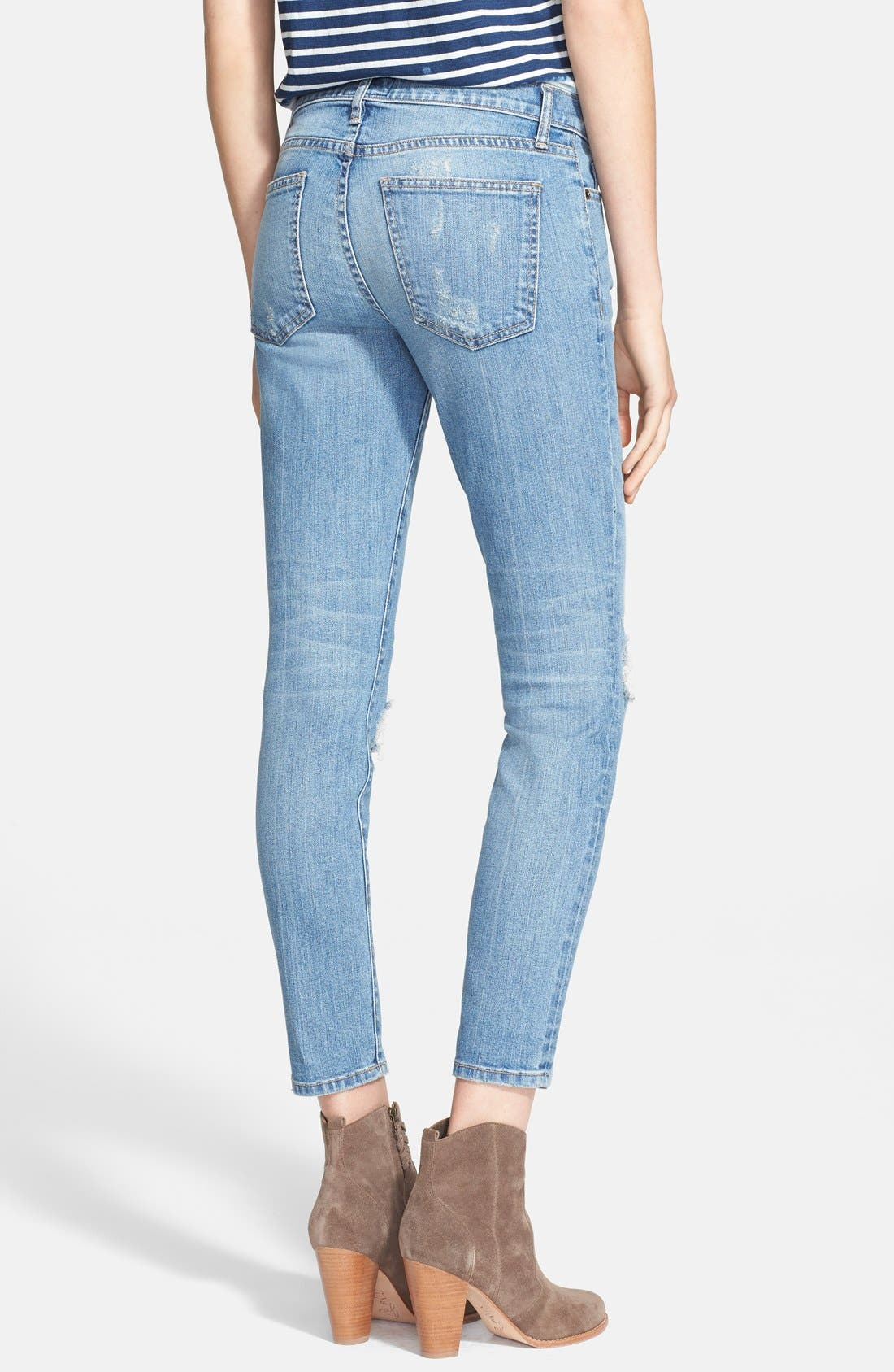 ,                             'The Stiletto' Destroyed Skinny Jeans,                             Alternate thumbnail 9, color,                             456