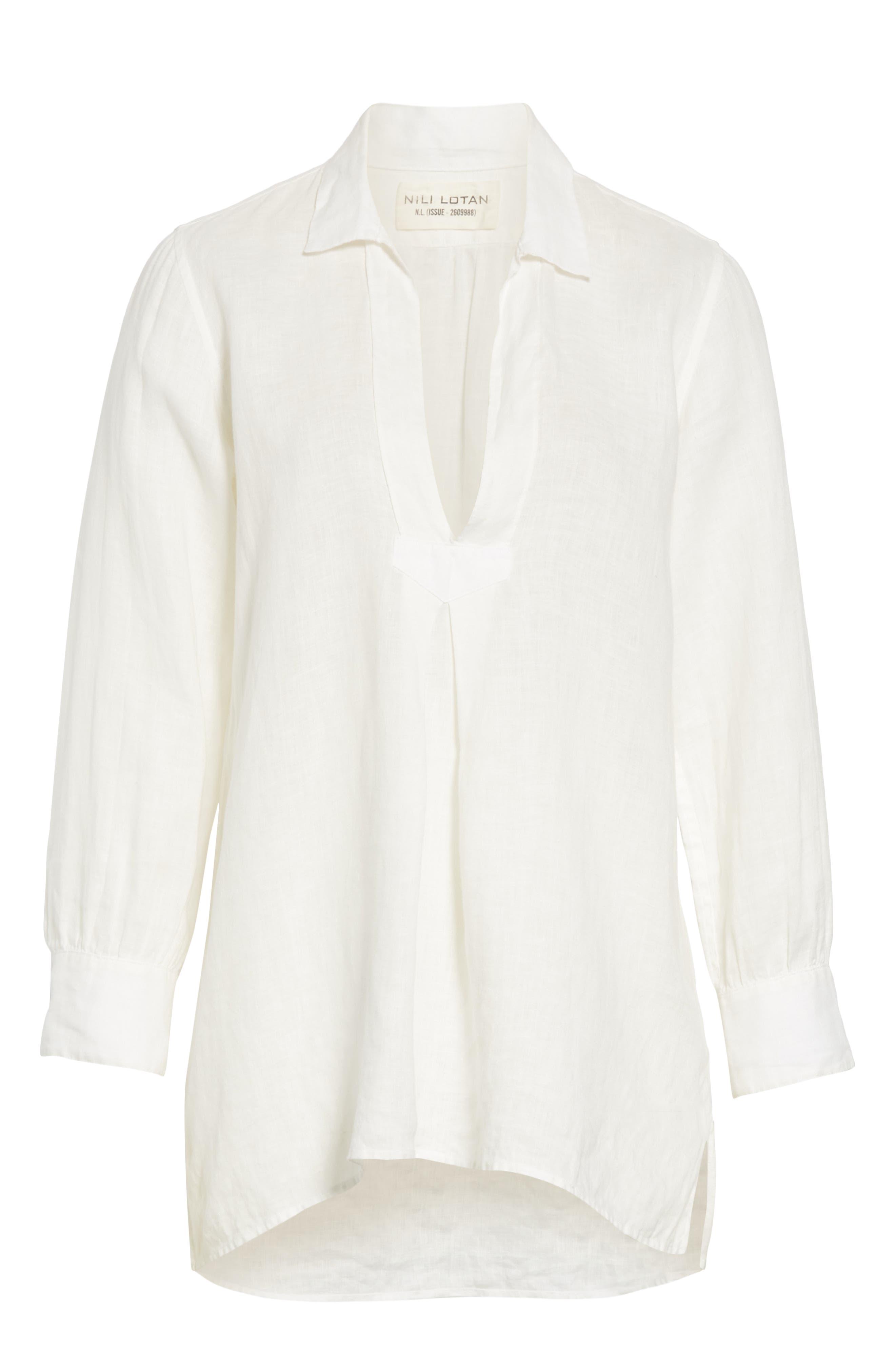 ,                             Emma Linen Shirt,                             Alternate thumbnail 6, color,                             NATURAL