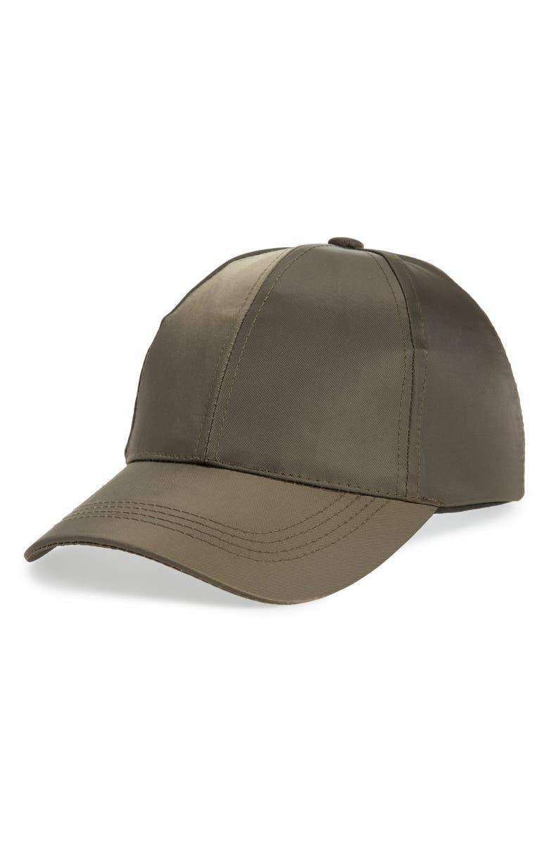 ZELLA Water Repellent Baseball Hat, Main, color, 021