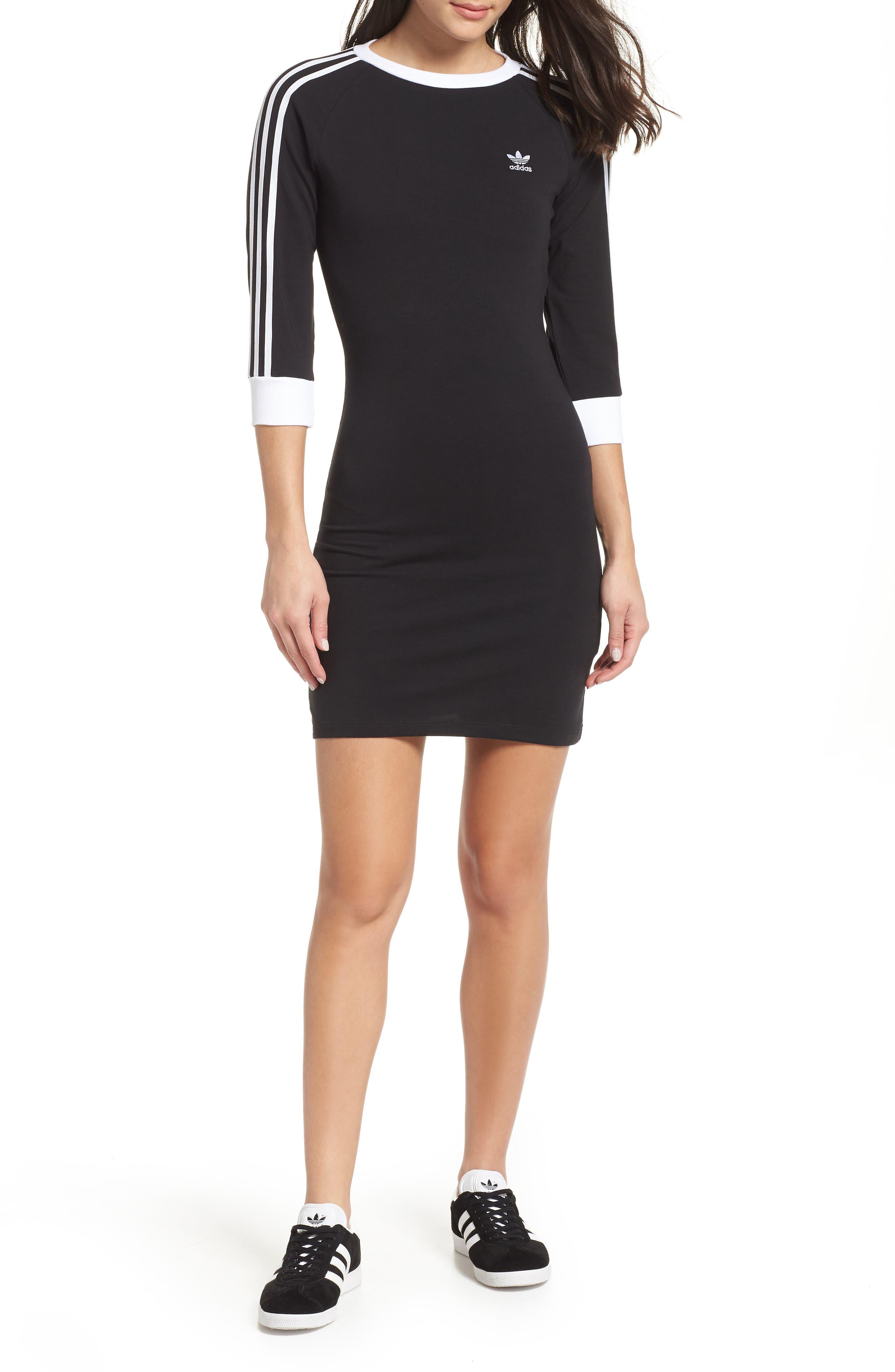 Adidas Originals 3-Stripes Dress, Black