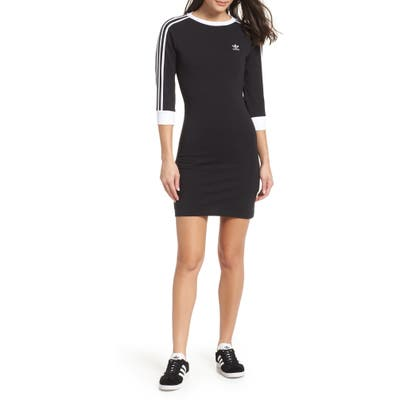 Adidas Originals 3-Stripes Dress, Black