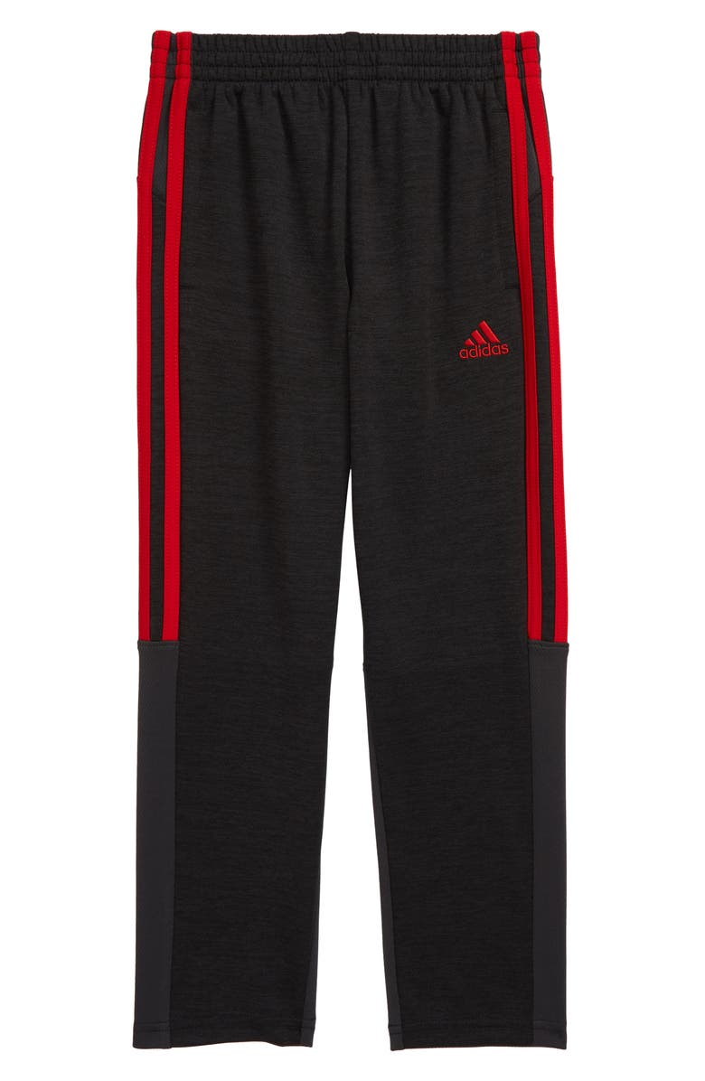 ADIDAS Climalite<sup>®</sup> Mélange Athletic Pants, Main, color, BLACK HEATHER W/ SCARLET RED
