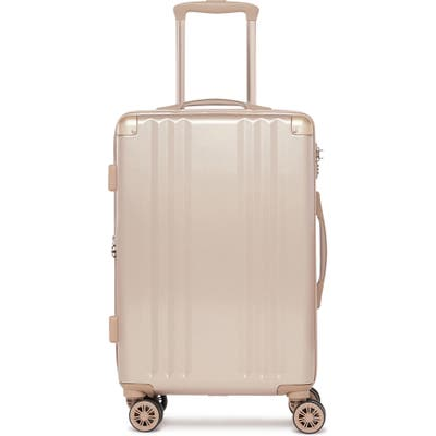 Calpak Ambeur 22-Inch Rolling Spinner Carry-On - Metallic