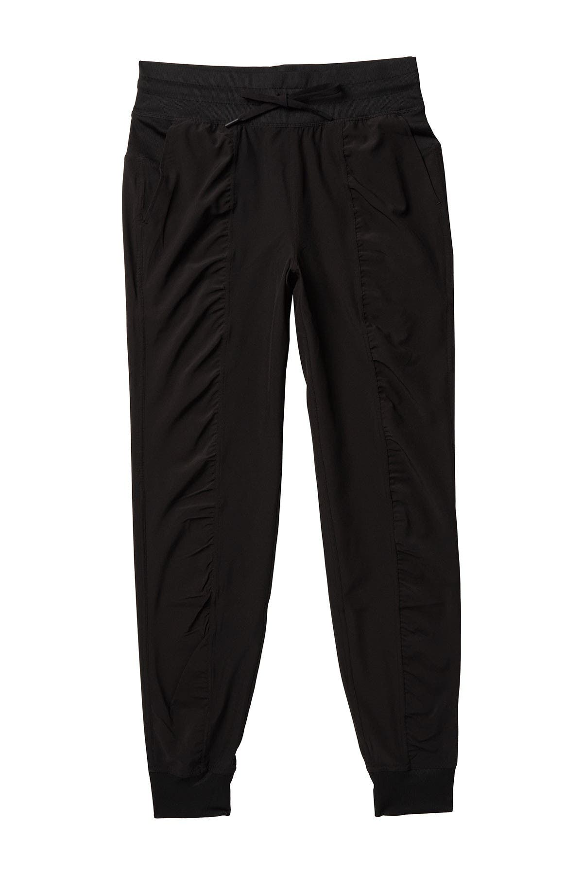 Image of 90 Degree By Reflex Woven Ruched Drawstring Leggings