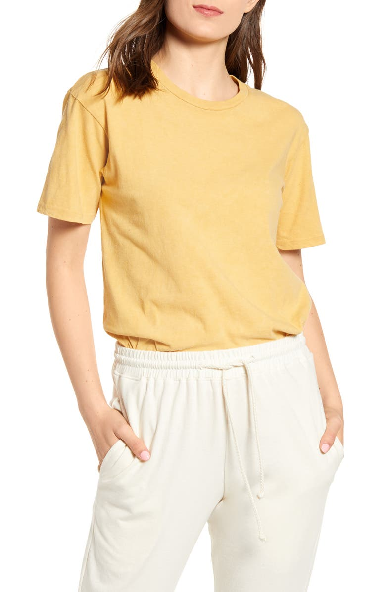 HARVEST & MILL California Clay Dyed Organic Cotton Tee, Main, color, CLAY