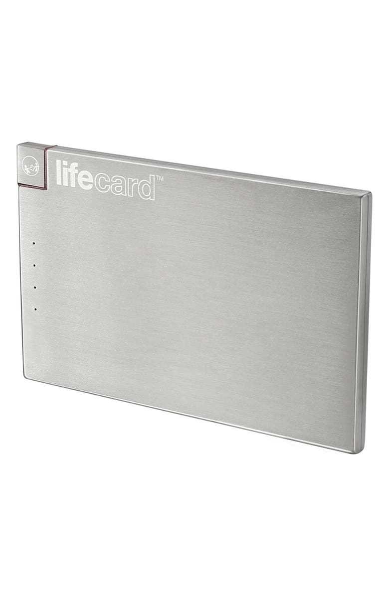 PLUSUS Lifecard Lightning External Battery, Main, color, SILVER