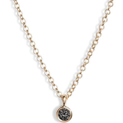 Ef Collection Bezel Diamond Pendant Necklace