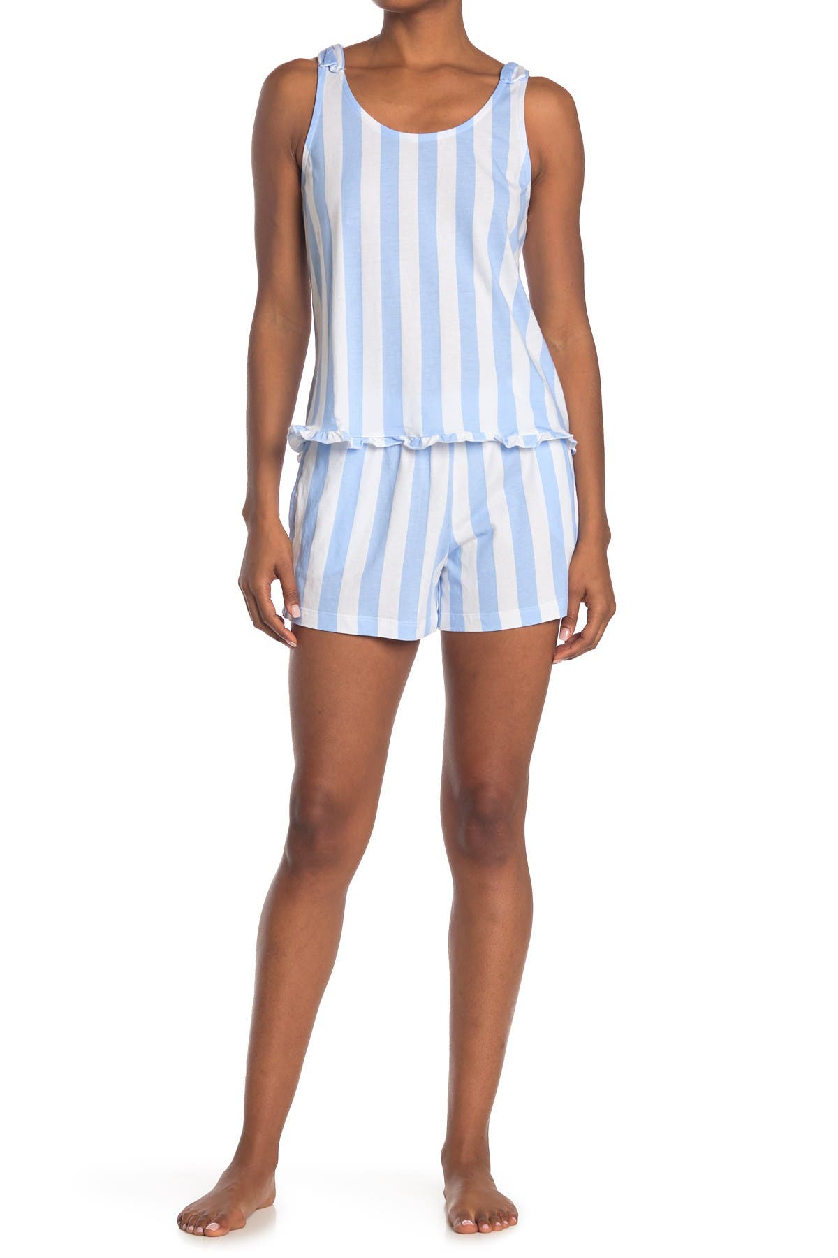 Image of Jane & Bleecker New York Stripe Print 2-Piece Pajama Set