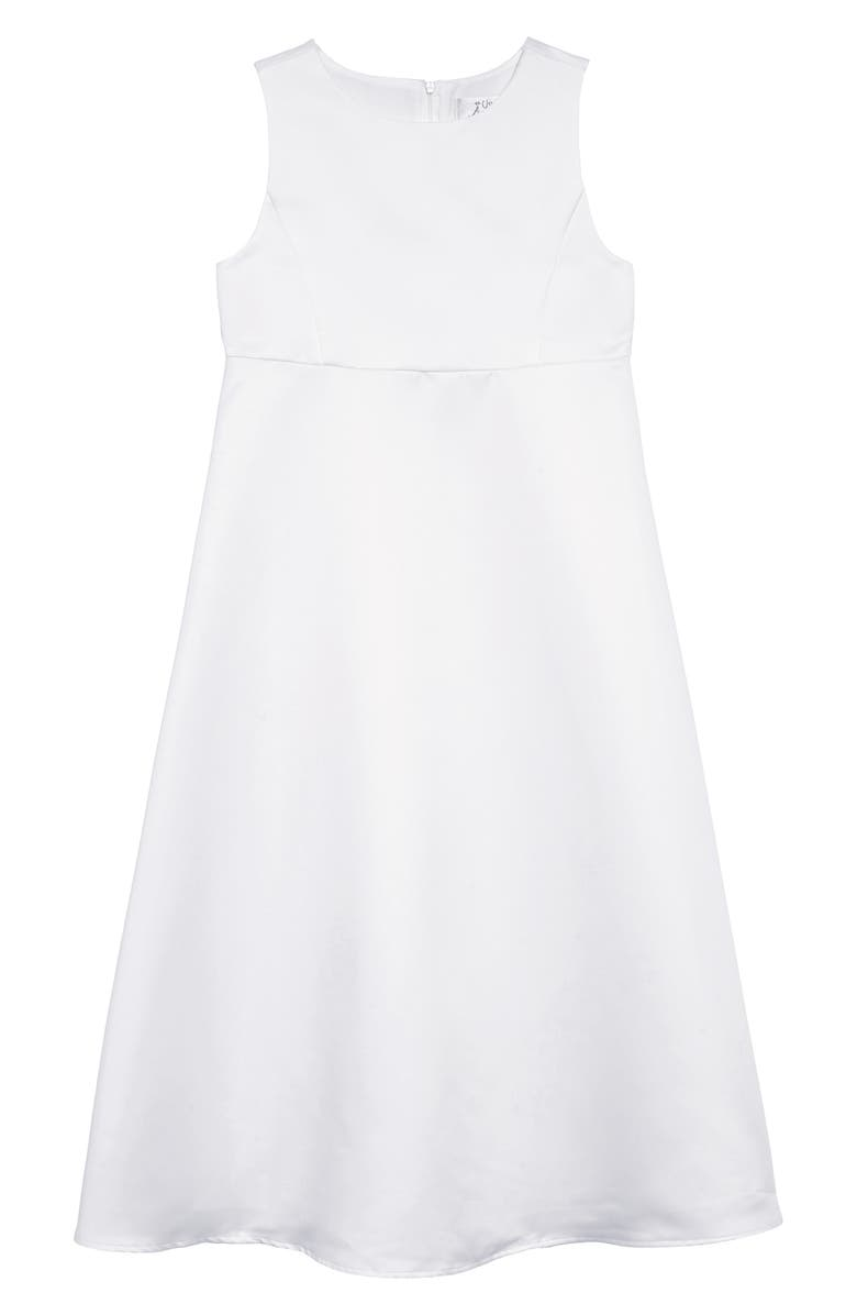 US ANGELS The Classic A-Line Dress, Main, color, WHITE