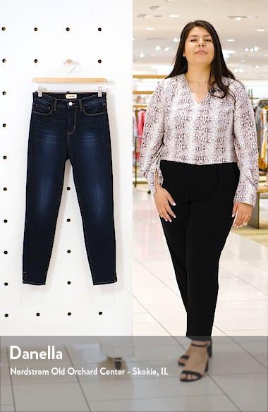 Avery High Waist Side Slit Skinny Jeans, sales video thumbnail