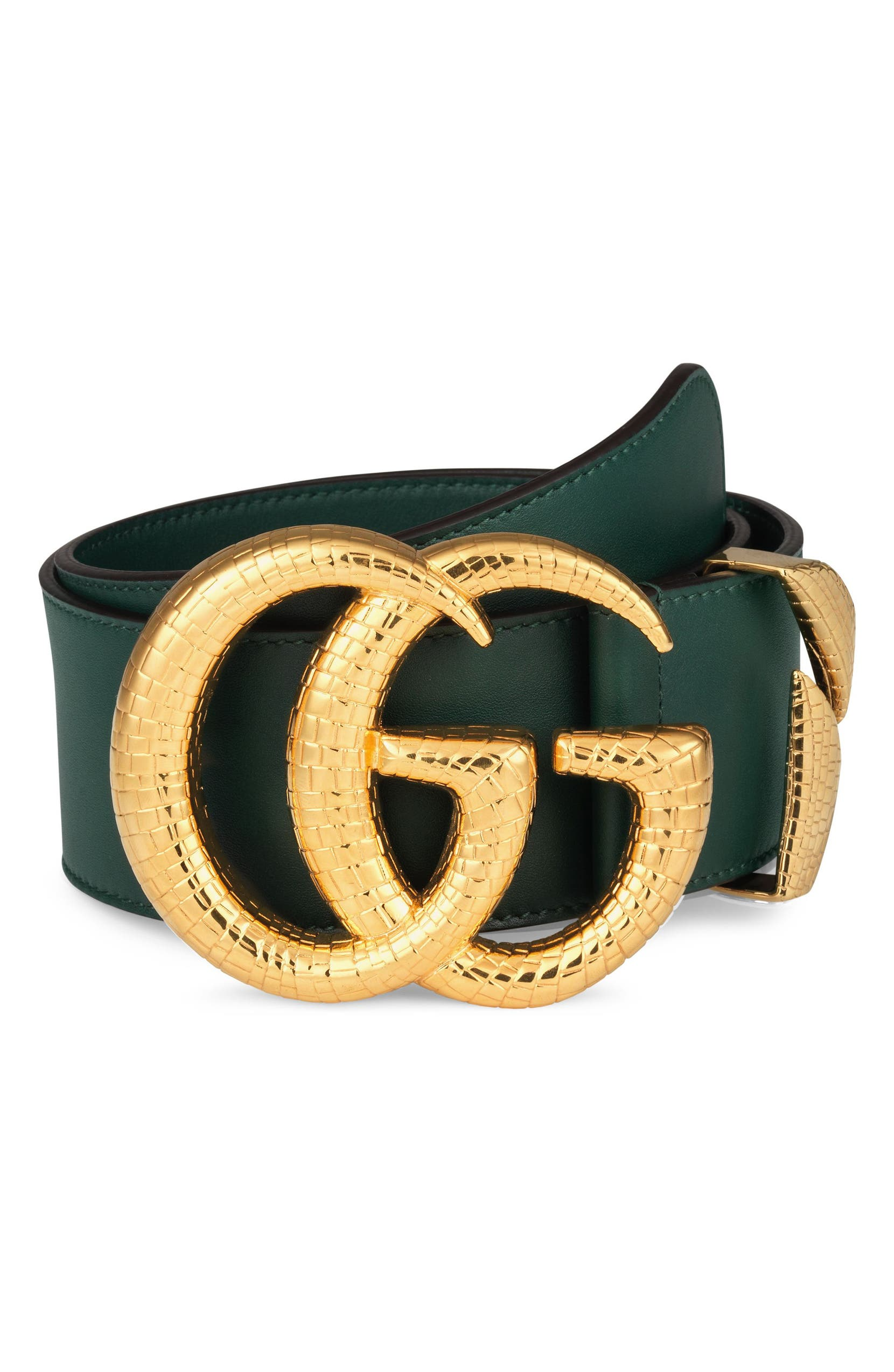 2acd34a2a2cf Gucci GG Marmont Lizard Buckle Leather Belt | Nordstrom