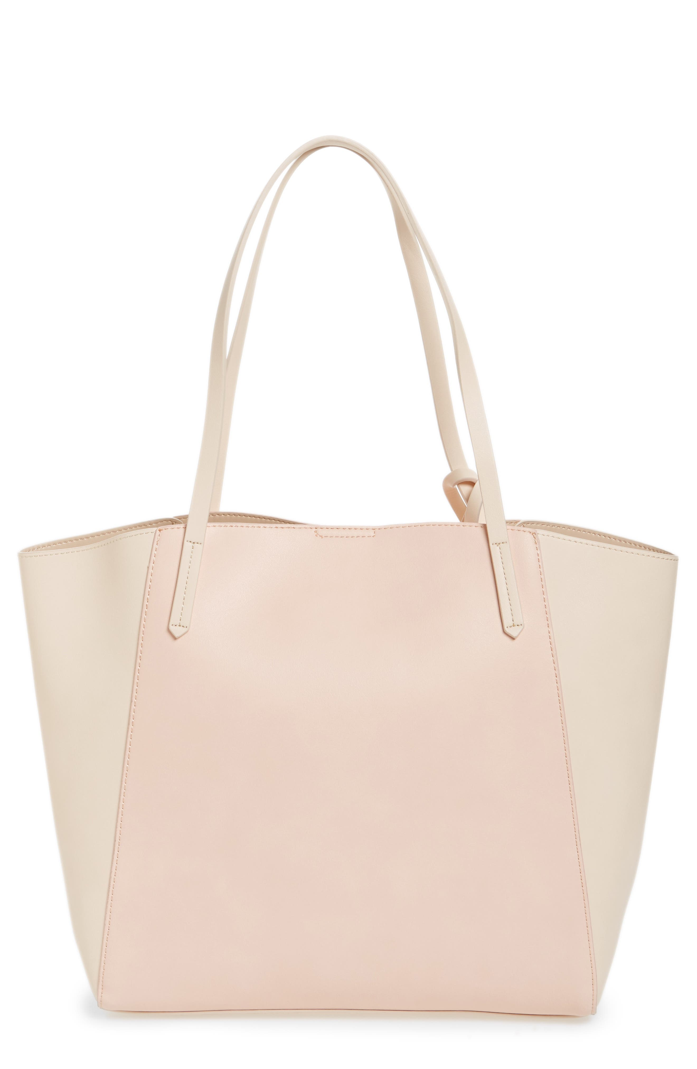 ,                             Colorblock Faux Leather Tote,                             Main thumbnail 30, color,                             680