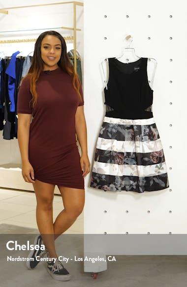 Floral Stripe Fit & Flare Dress, sales video thumbnail