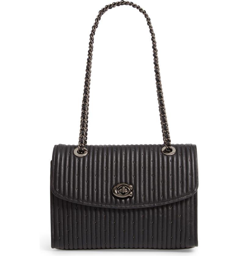 fea22796f9 Parker Quilted Leather Shoulder Bag