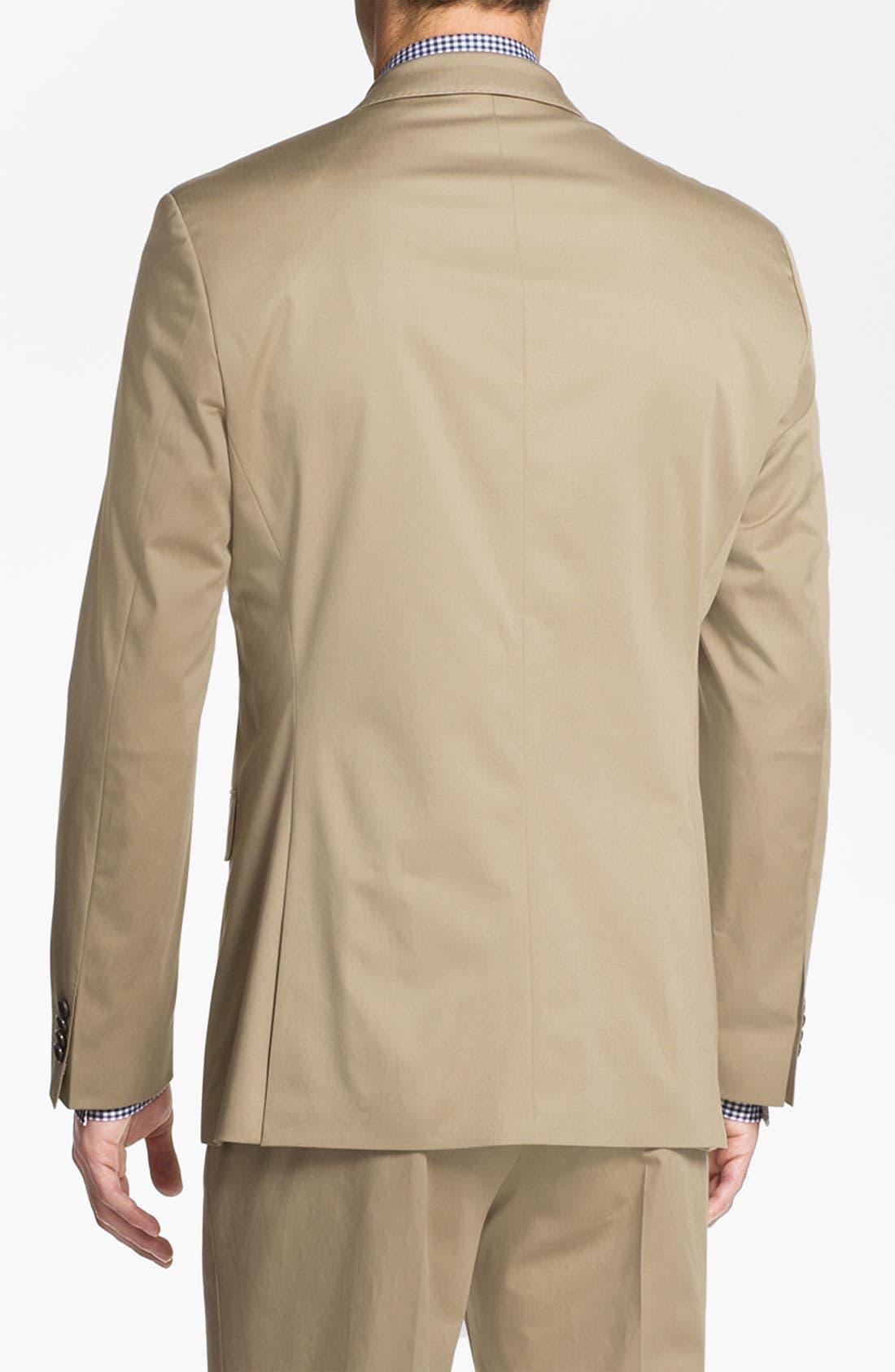 ,                             BOSS Black 'James/Sharp' Cotton Suit,                             Alternate thumbnail 3, color,                             291