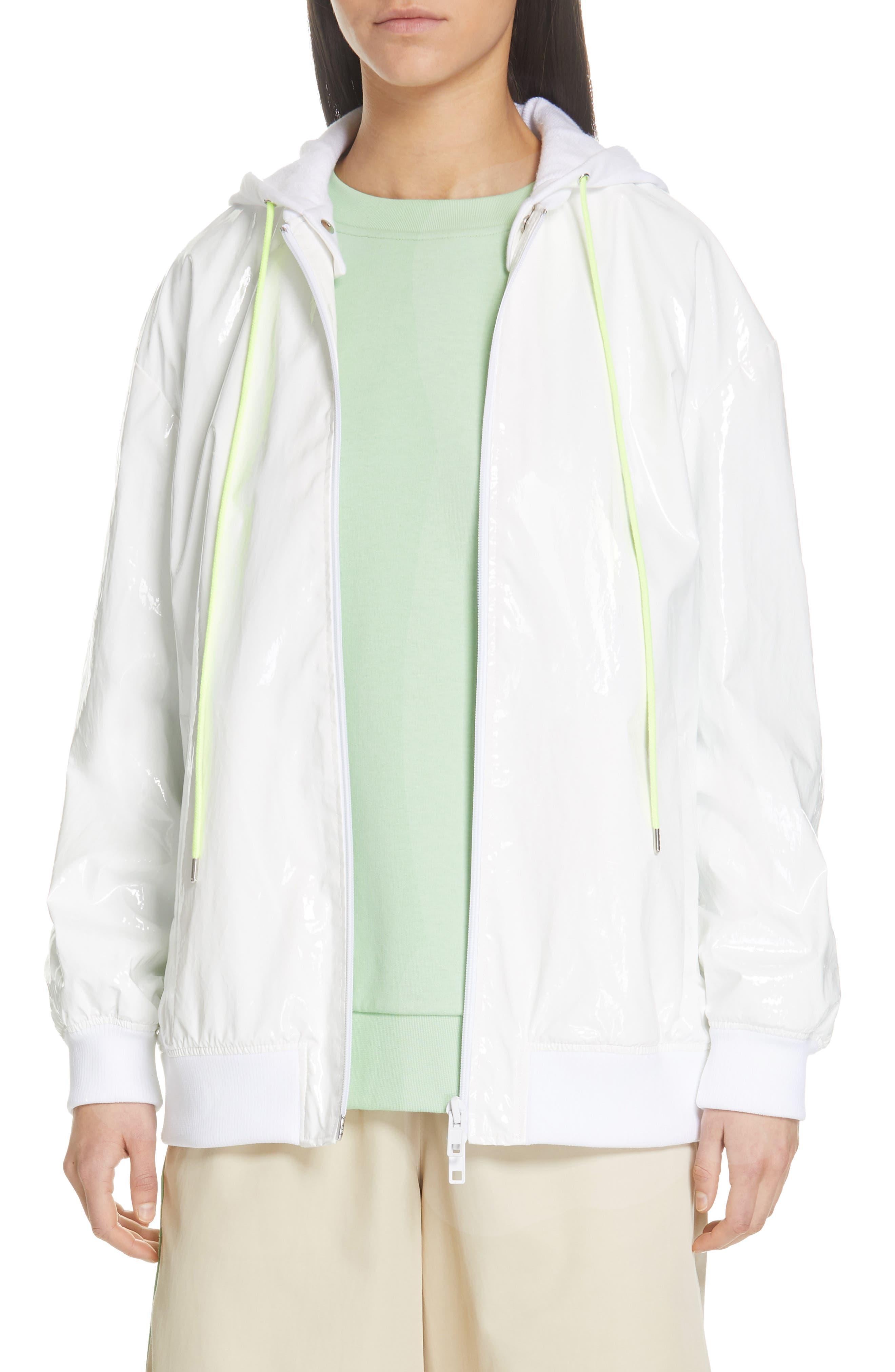 Image of Tibi Zip-Up Coated Jacket