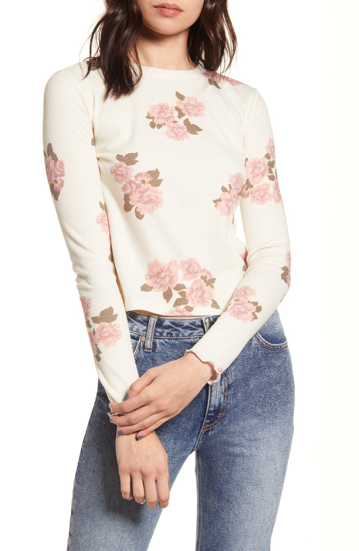 BP. Cozy Thermal Top, Main, color, IVORY MOODY ROSE