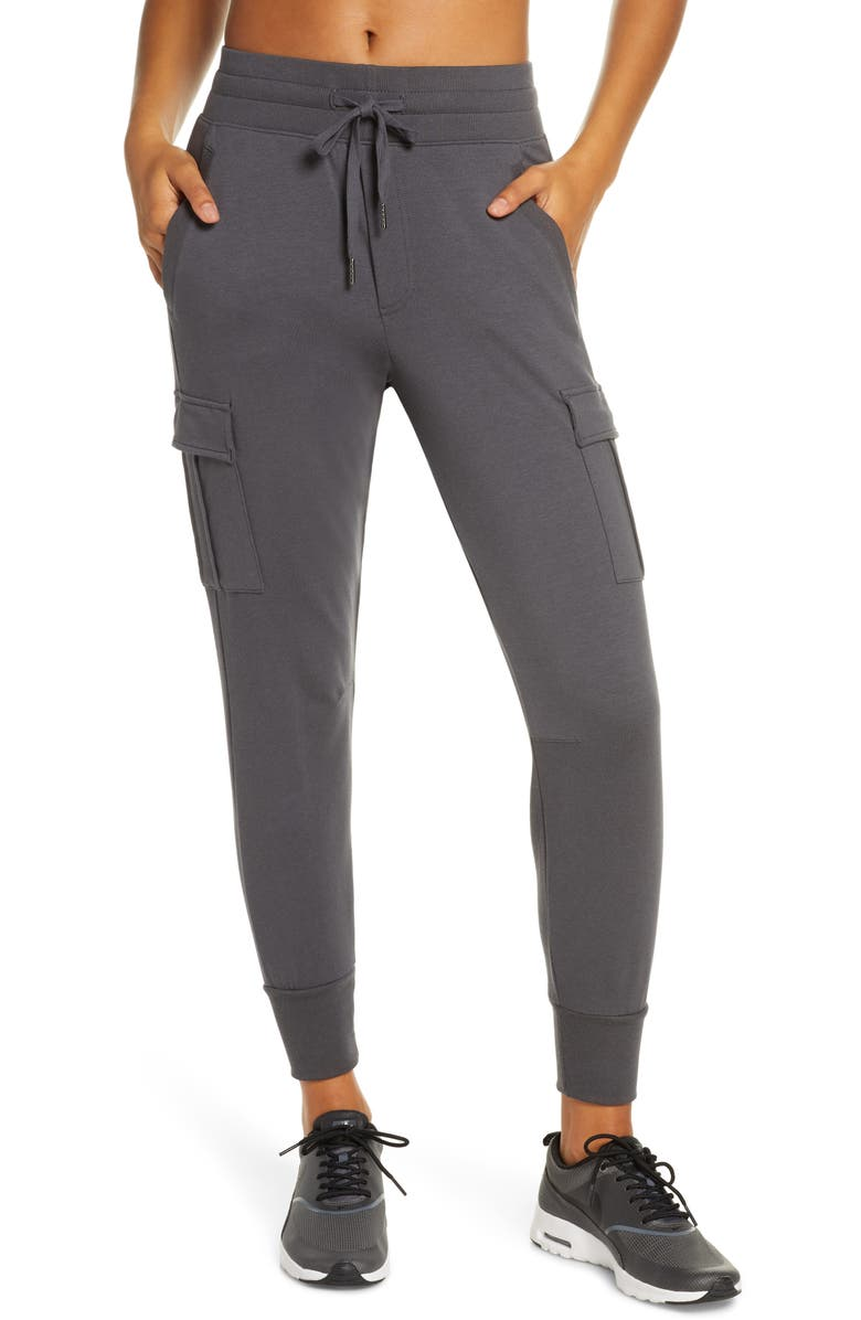 ZELLA Carter Cargo Jogger Pants, Main, color, GREY FORGE