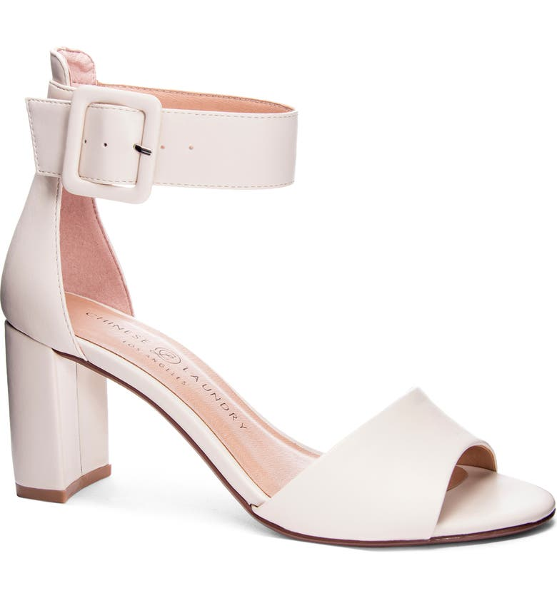 CHINESE LAUNDRY Rumor Sandal, Main, color, ECRU FAUX LEATHER