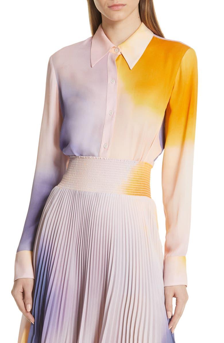 A.L.C. Jayne Dip Dye Silk Blouse, Main, color, 001