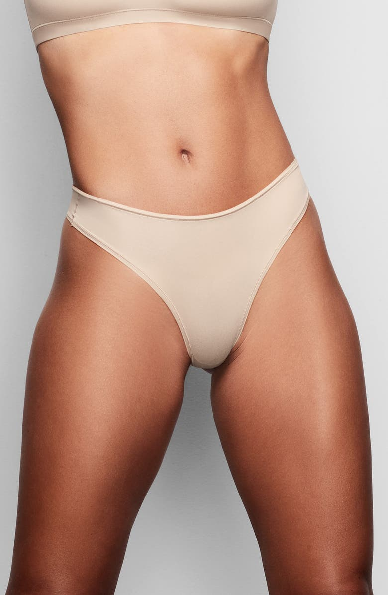 SKIMS Fits Everybody Thong, Main, color, CLAY
