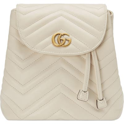Gucci Gg Marmont 2.0 Matelasse Leather Mini Backpack - White