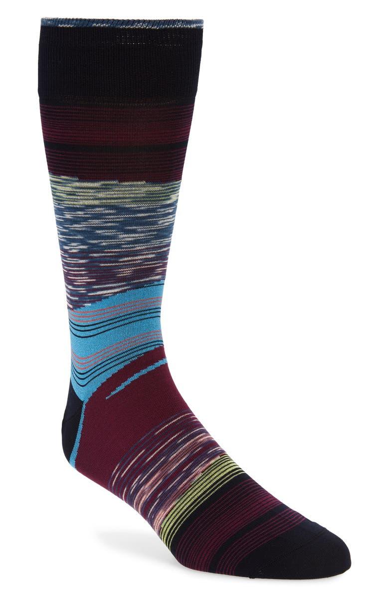 BUGATCHI Stripe Socks, Main, color, 930