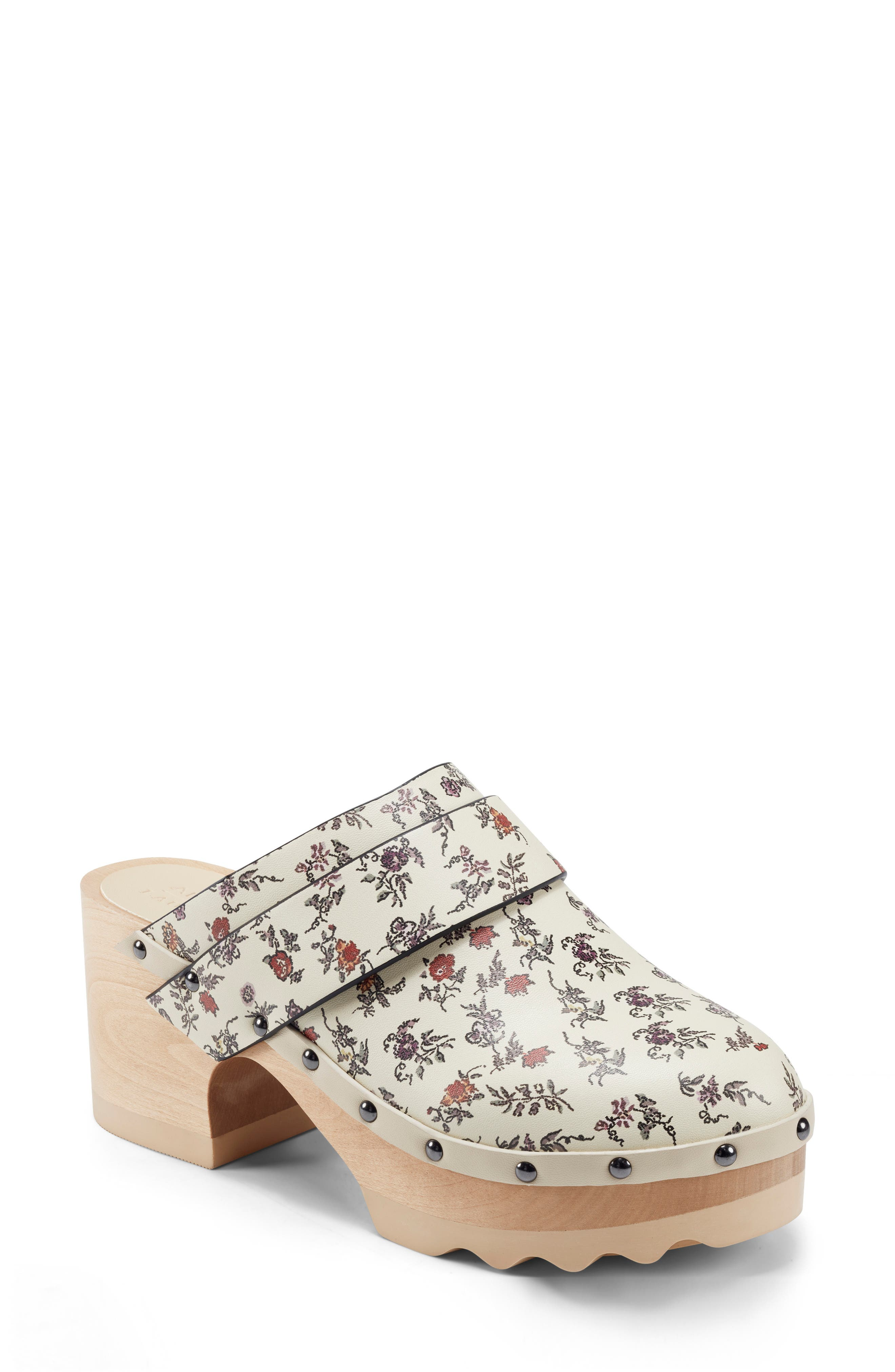 X Laura Ashley Pedro Quilted Faux Leather Clog