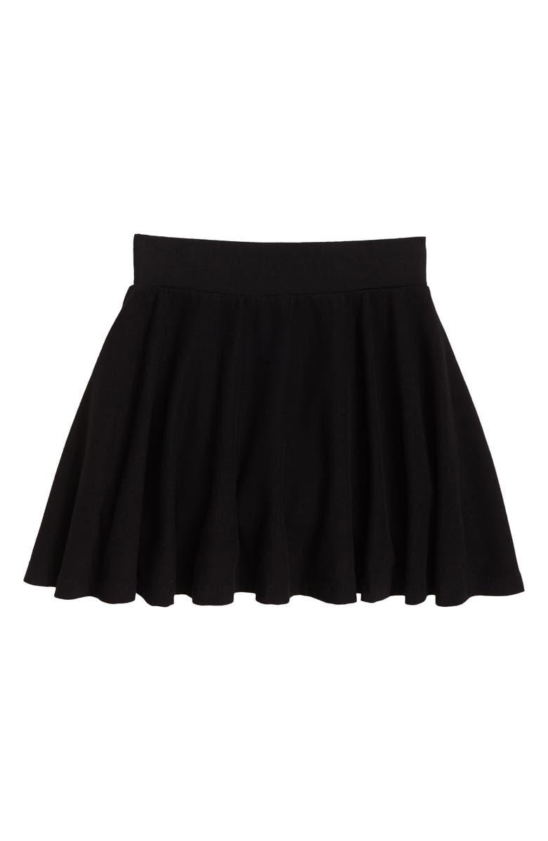 NORDSTROM Kids' Knit Skater Skirt, Main, color, BLACK