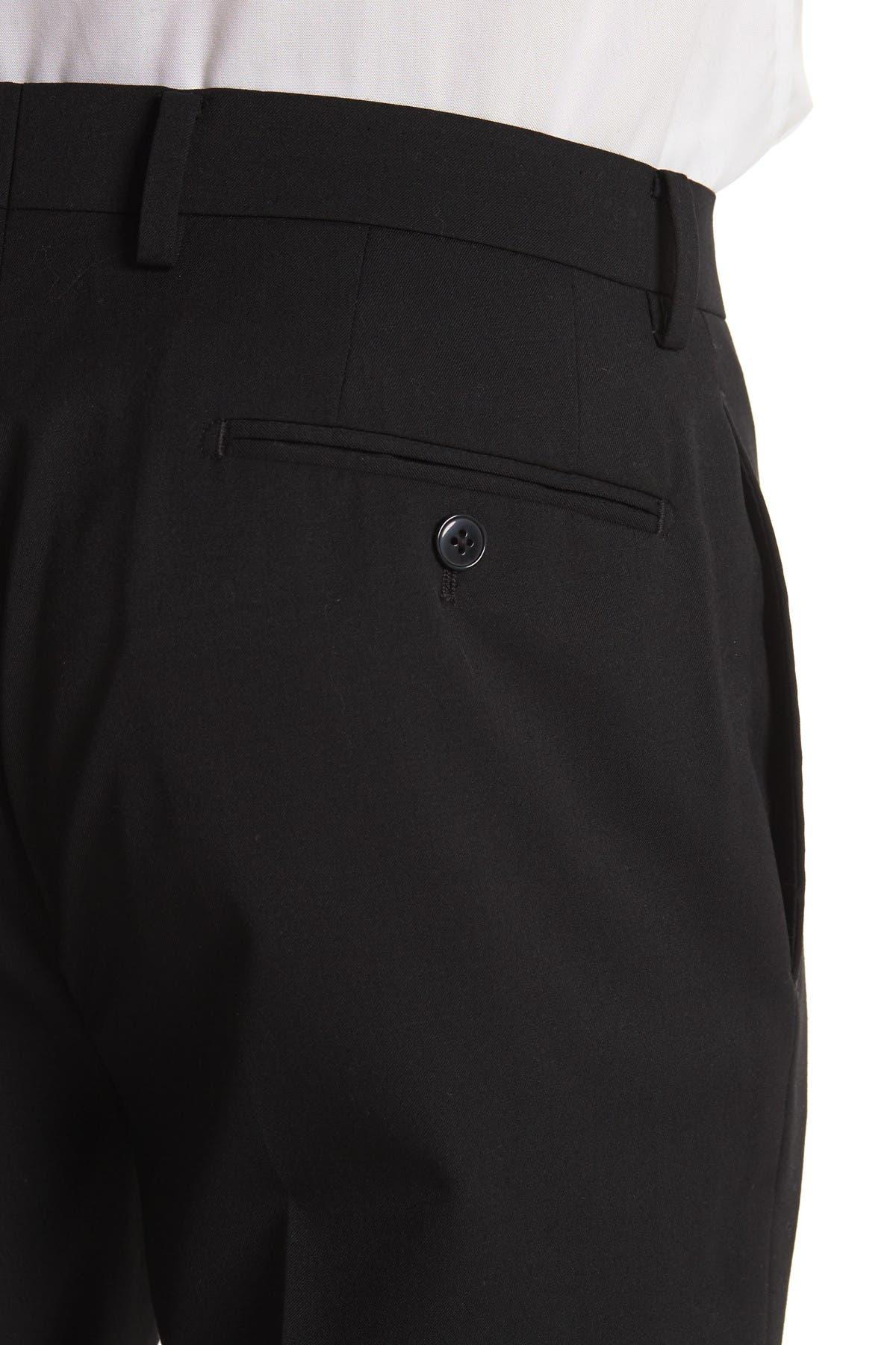 Image of Calvin Klein Black Two Button Notch Lapel Wool Blend Suit