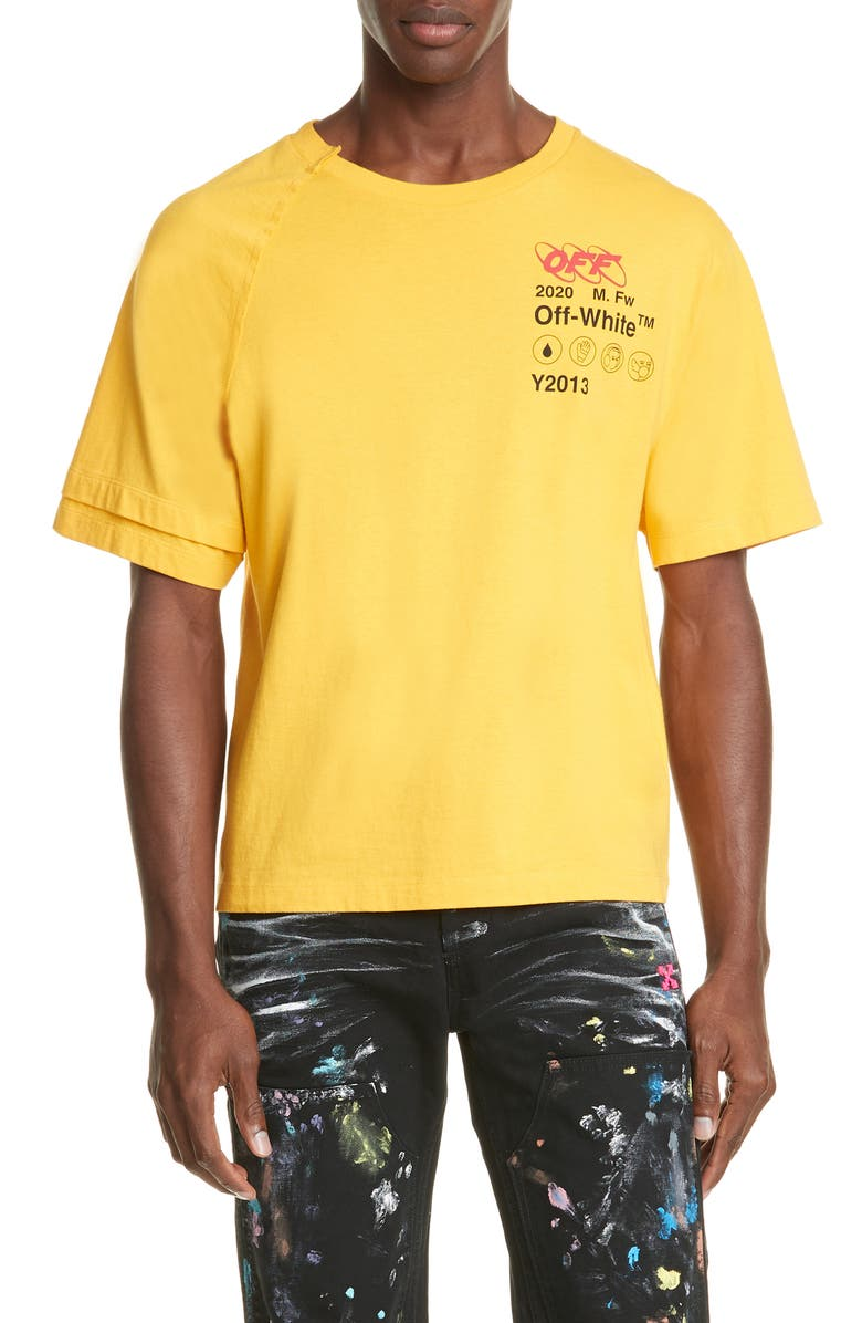 OFF-WHITE Industrial Y013 Recon Graphic T-Shirt, Main, color, YELLOW/ BLACK