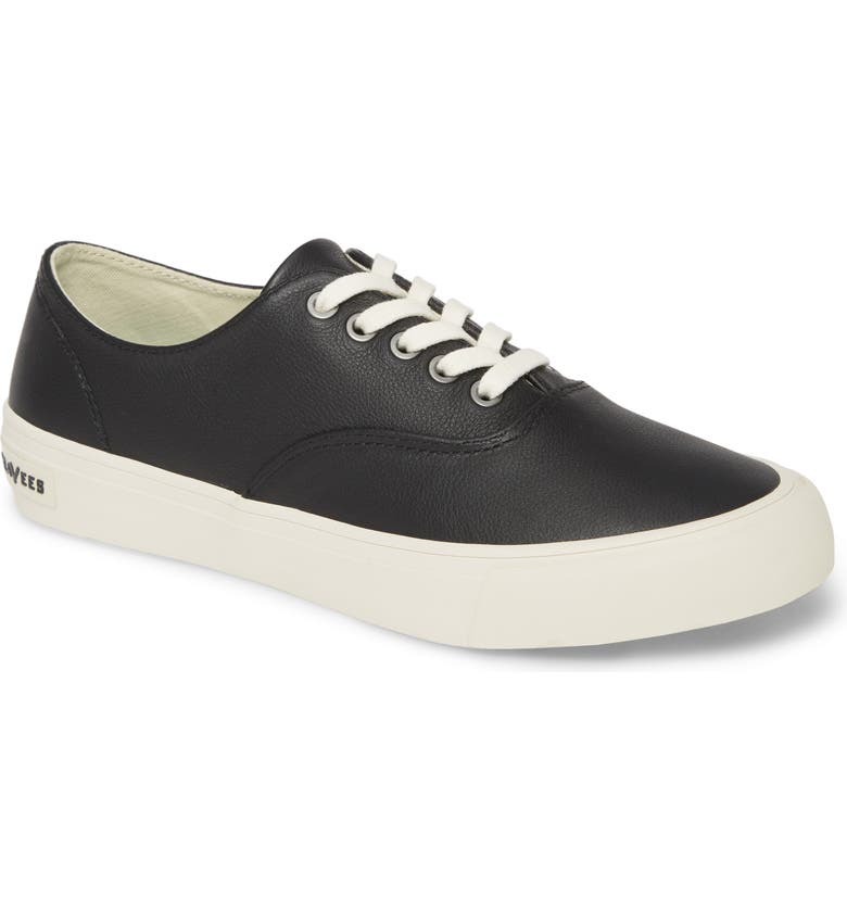 SEAVEES Legend Sneaker, Main, color, BLACK LEATHER
