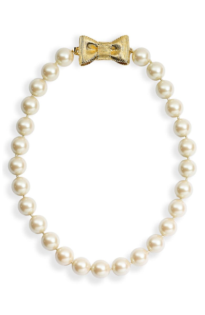 kate spade new york 'all wrapped up' short glass pearl ...