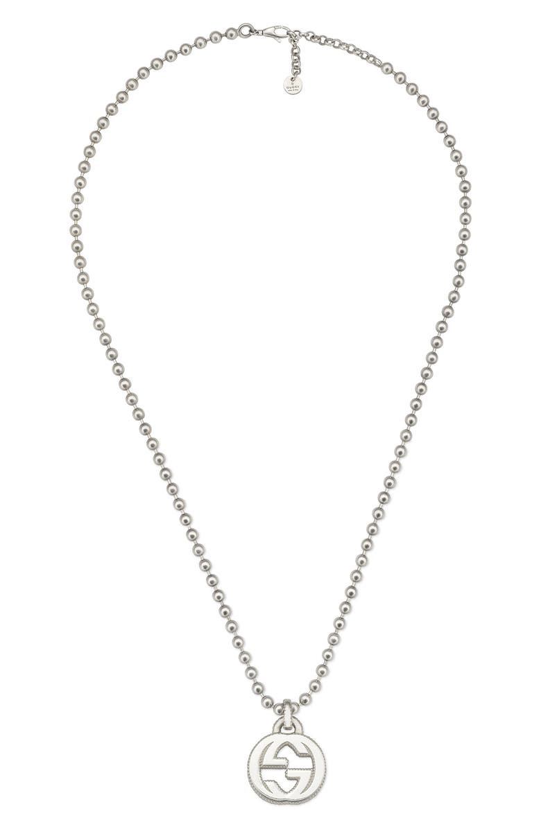 GUCCI Interlocking-G Necklace, Main, color, 040