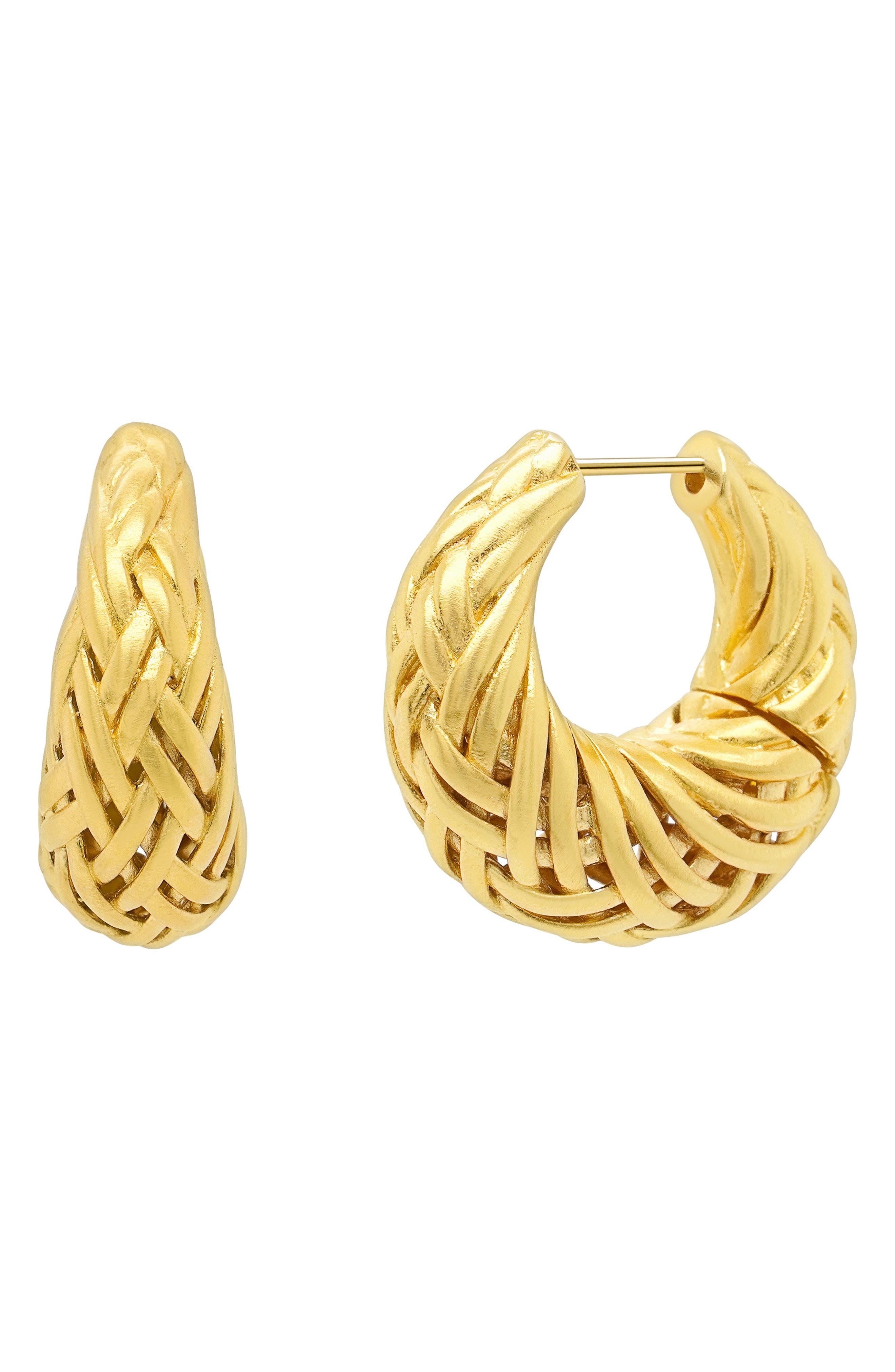 Weave Hoop Earrings