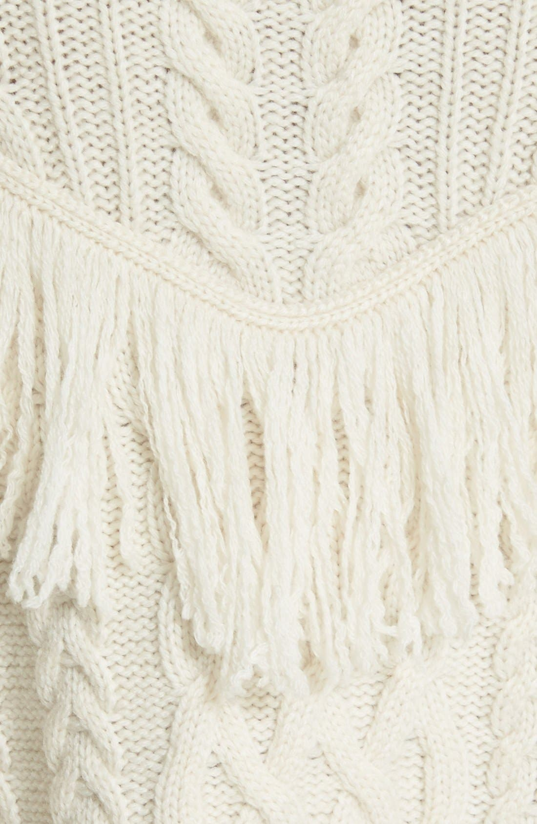 ,                             'Viviam' Fringe Cable Turtleneck Sweater,                             Alternate thumbnail 10, color,                             103