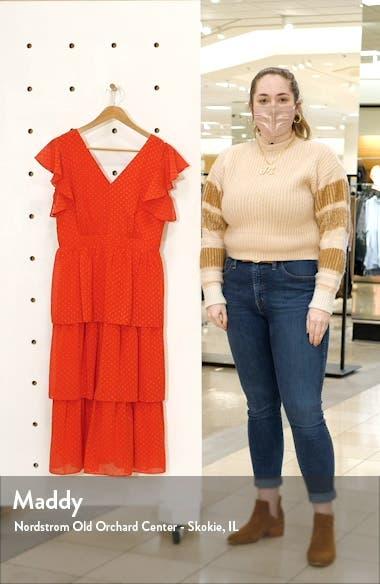Clip Dot Chiffon Midi Dress, sales video thumbnail