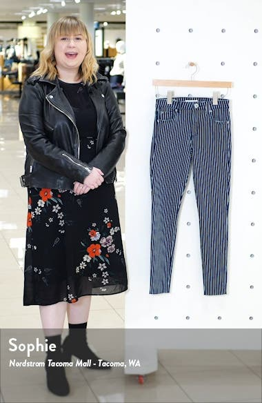 Ellie Stripe High Waist Ankle Skinny Jeans, sales video thumbnail