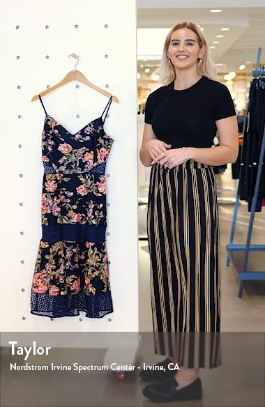 Kaylea Sleeveless Embroidered Lace Trim Dress, sales video thumbnail