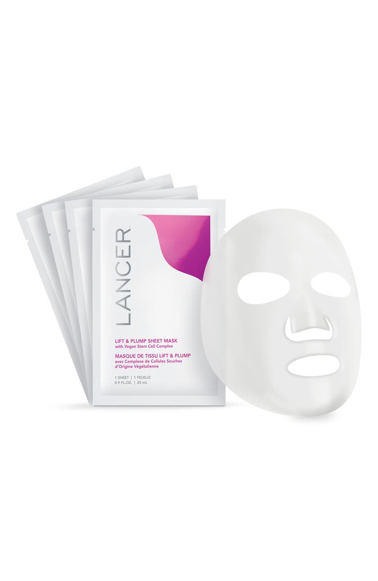 LANCER SKINCARE Lift & Plump Sheet Mask, Main, color, NO COLOR
