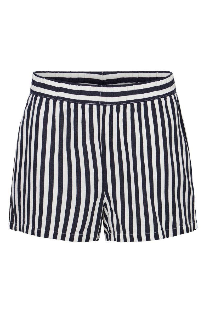 VERO MODA Stripe Shorts, Main, color, NIGHT SKY STRIPE