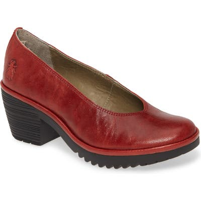 Fly London Walo Pump-7- Red