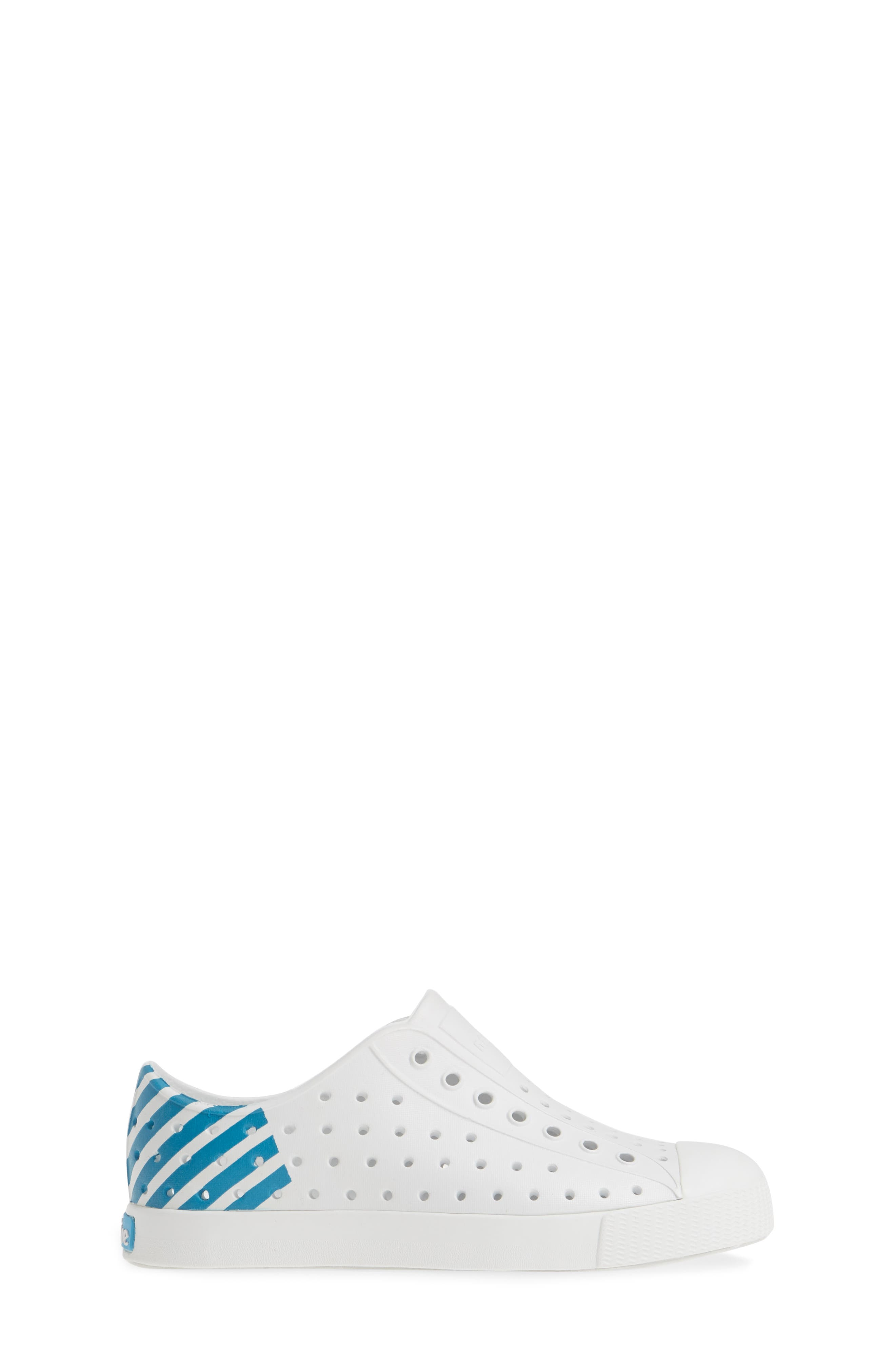 ,                             'Jefferson' Water Friendly Slip-On Sneaker,                             Alternate thumbnail 3, color,                             WHITE/ WHITE/ ULTRA GLOW BLOCK