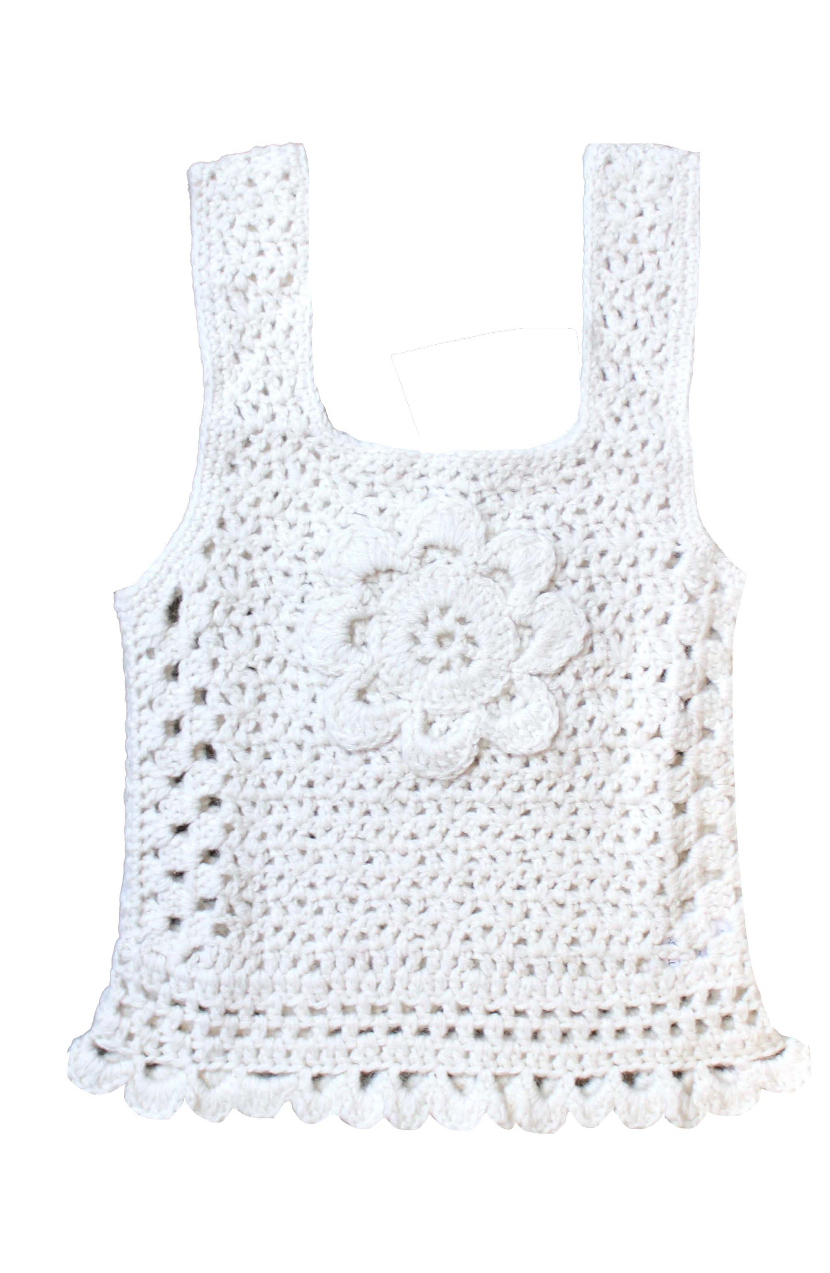 Daisy Crochet Sweater Vest